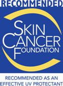 Logotipo Skin Cancer Foundation y Sunbrella